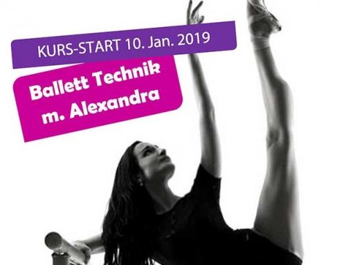 "Ab 10. Januar: Ballett-Technik m. Alexandra ""Grand Jeté"""