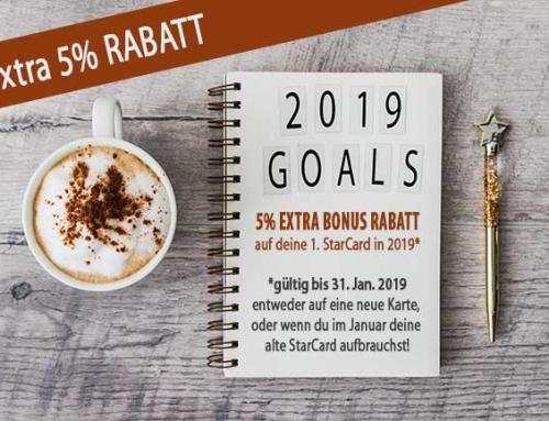 5% Extra Rabatt zum Start ins neue Jahr