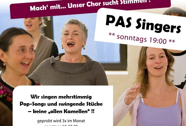 Chor immer sonntags - Gesangsunterricht München