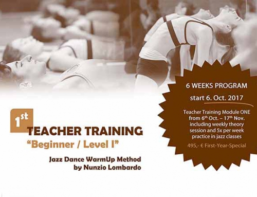Start 6. Okt.: Teacher Training for Jazz Teachers