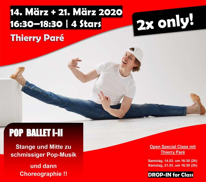 Pop Ballet Special Class with Thierry Pare