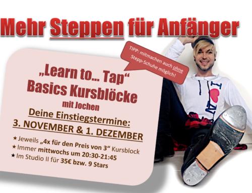"""Für Anfänger: """"Learn to Tap!"""""""