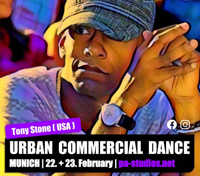 Urban Commercial Dance Workshop HipHop mit Tony Stone