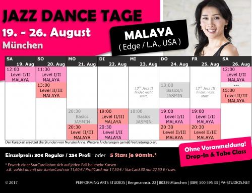 Malaya's Stundenplan ist jetzt online!