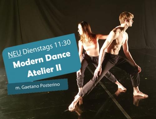 Ab 16.10.: Modern Dance Atelier m. Gaetano