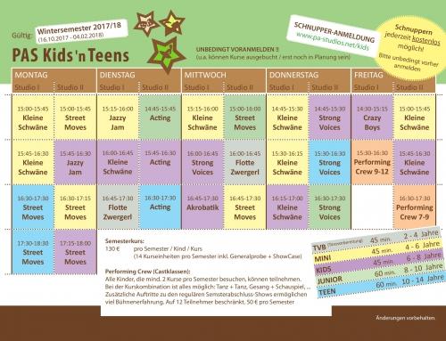 Kinderkurse starten ab 16. Oktober