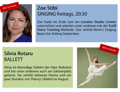 Neue Sommervertretungen Ballett & Singing